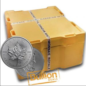 """Canadian Maple Leaf """"Various Dates"""" Silver 500 Coins 1xMonster Box.png"""