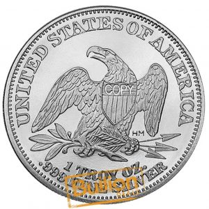 Seated Liberty Silver 1 oz Round reverse.png