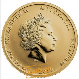 Year of the Pig Perth Gold 0.5 oz Coin obverse.png
