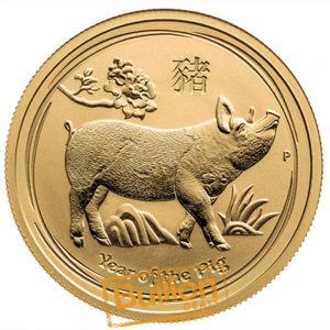 Year of the Pig Perth Gold 0.5 oz Coin reverse.png