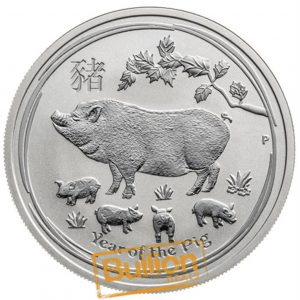 Year of the Pig Perth Silver 0.5 oz Coin reverse.png