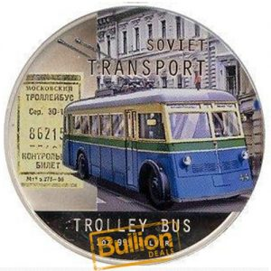Soviet Transport Trolley Bus Silver 1 oz Coin Rev .jpg