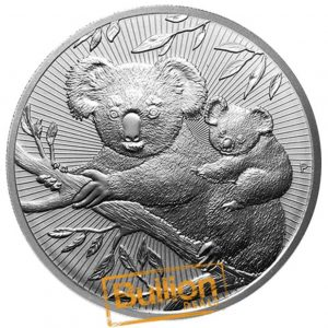 Australian Koala Mother and Baby Piedforts Silver 2 oz Coin reverse.png