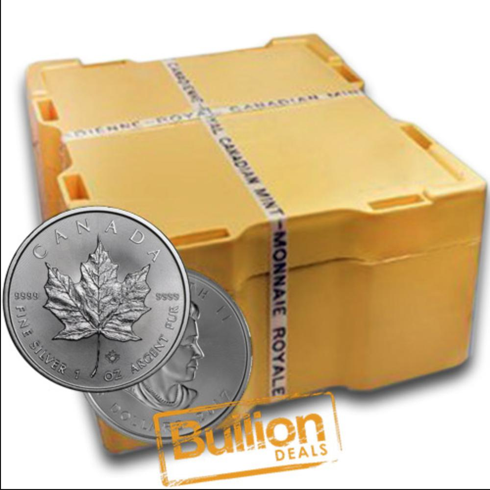 Canadian Maple Leaf Various Dates Silver 500 Coins 1xMonster Box.jpg