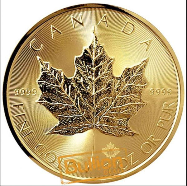 Canadian Maple  Various Dates  Gold 1 oz Coin reverse.jpg