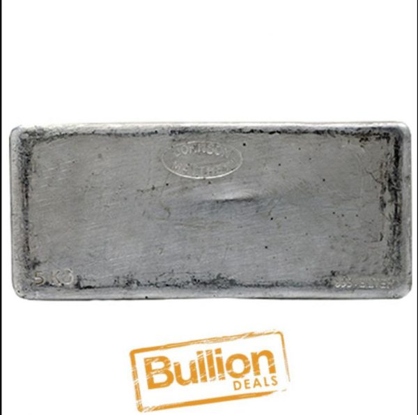 Johnson Matthey Silver 5 kg Bar obverse.jpg