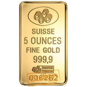 Pamp Suisse Fortuna Gold 5 oz Bar obverse.jpg
