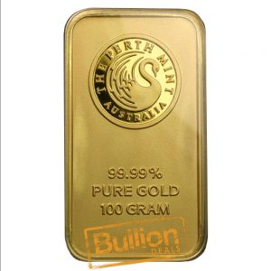 Perth Mint Gold 100 g Bar reverse.jpg