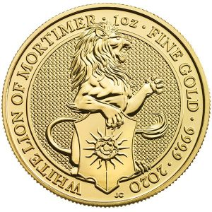 2020 1 OZ GOLD QUEENS BEAST WHITE LION OF MORTIMER rev.png