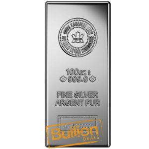 Royal Canadian Mint 100 oz silver bar.jpg